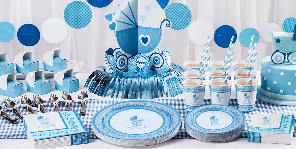 Celebrate boy baby shower supplies party city canada for Baby shower decoration stores