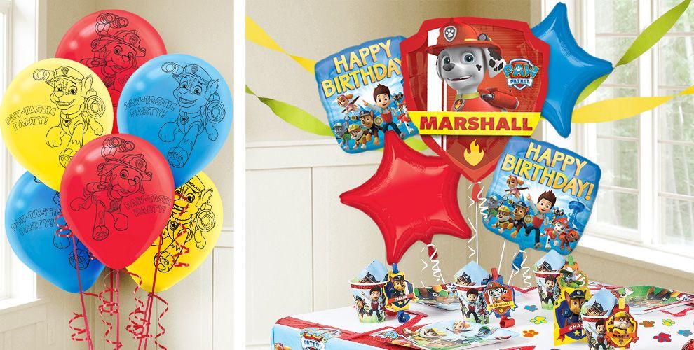 PAW Patrol Balloons - PAW Patrol Birthday Balloons - Party ...