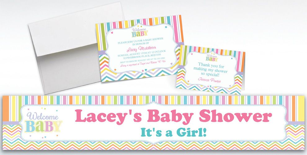 baby brights baby shower invitations thank you notes party city
