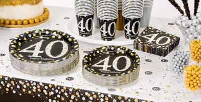 Sparkling Celebration 40th Birthday Party Supplies Party City