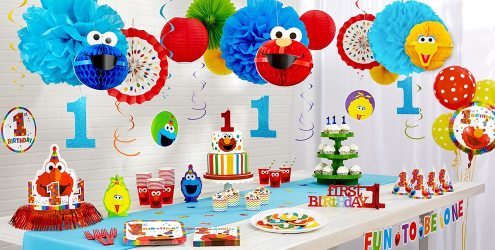 Elmo 1st Birthday Party Supplies  Party City ~ 191942_Birthday Decorations Ideas For 1St Birthday