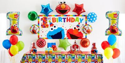 ... Mickey Mouse 1st Birthday Party Supplies; Elmo ...  sc 1 st  Party City & Elmo 1st Birthday Party Supplies | Party City