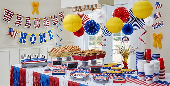 Welcome home party supplies patriotic military party for Military welcome home party decorations