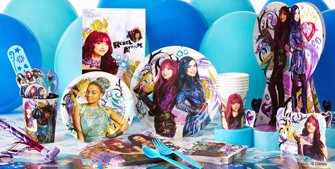 Disney Descendants Party Supplies Descendants Birthday