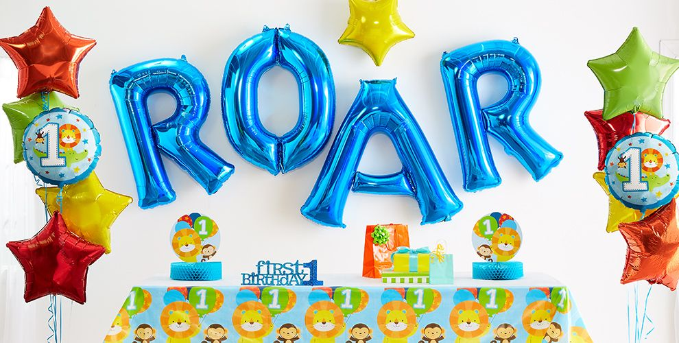 Blue One is Fun 1st Birthday Party Supplies