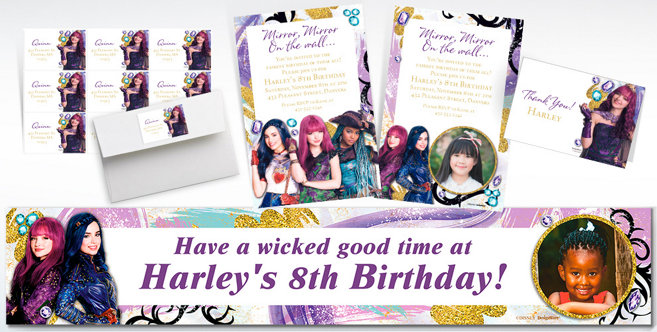 Custom Descendants 2 Invitations Thank You Notes