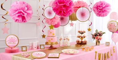 Party City Baby Shower Stuff Part - 39: ... Pink Twinkle Twinkle Little Star Baby Shower Party Supplies. «»