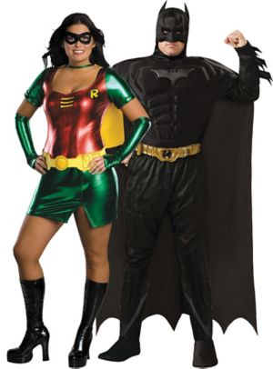 Adult Batman & Robin Couples Costumes Plus Size