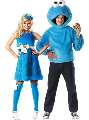 Cookie Monster Couples Costumes - Sesame Street