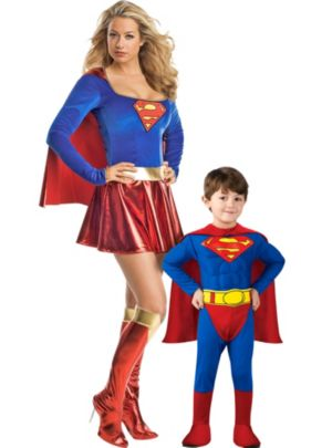 Superman and Supergirl Mommy and Me Costumes