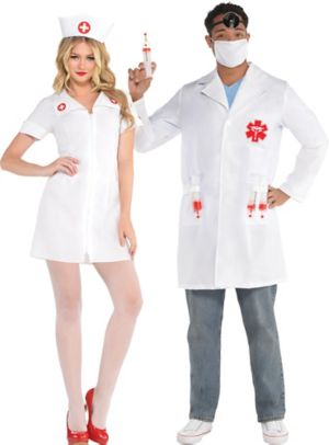 Adult Nurse & Doctor Couples Costumes