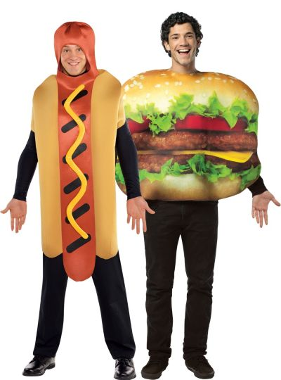 Cheeseburger and Hot Dog Couples Costumes