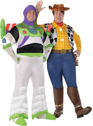 Adult Buzz Lightyear & Woody Couples Costumes Plus Size - Toy Story