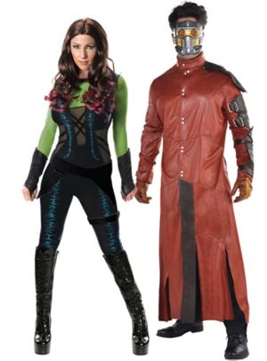 Adult Gamora & Star-Lord Couples Costumes - Guardians of the Galaxy