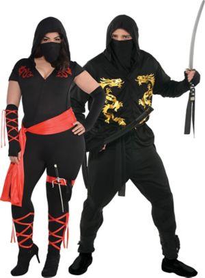 Adult Ninja Couples Costumes Plus Size