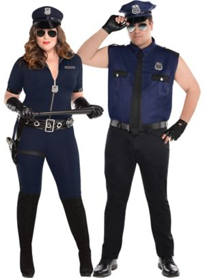 Adult Sexy Cop Couples Costumes Plus Size