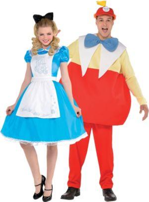 Adult Alice & Tweedledum Couples Costumes - Alice in Wonderland