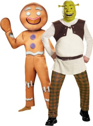 Adult Shrek & Gingy the Gingerbread Man Couples Costumes