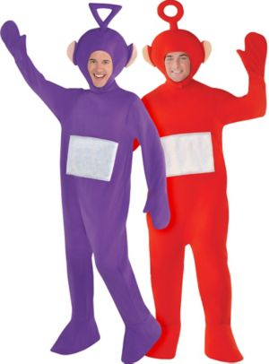 Adult Tinky Winky & Po Couples Costumes - Teletubbies