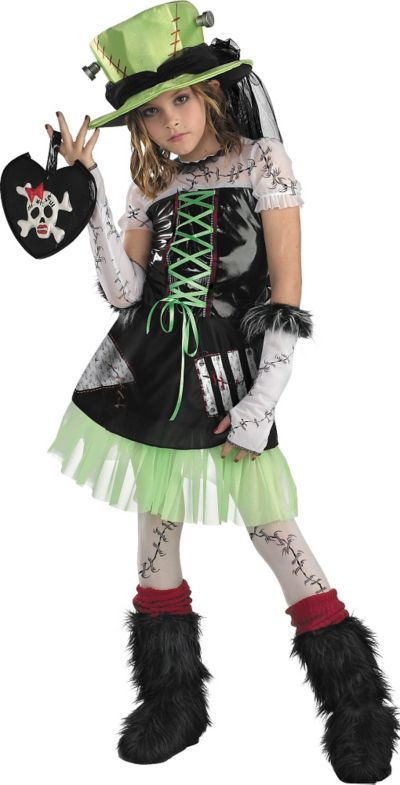 Girls Green Monster Bride Costume