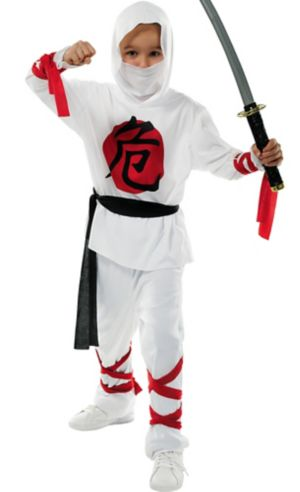 Boys White Warrior Ninja Costume