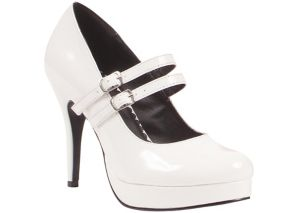 White Mary Jane Platform Shoes