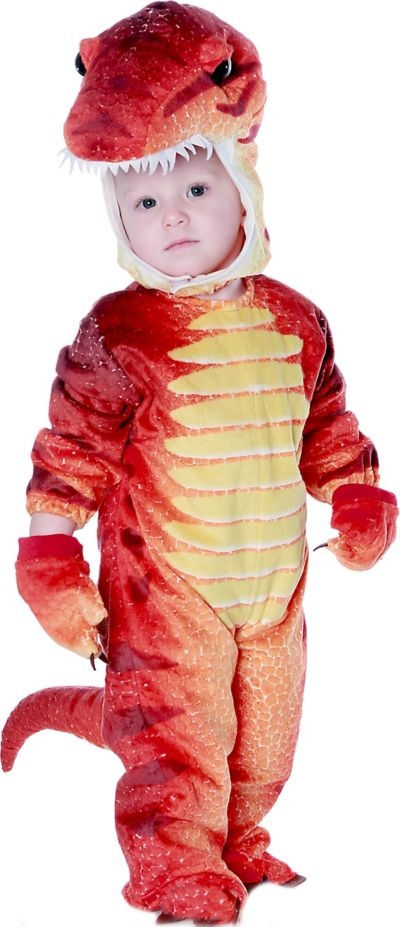 Toddler Boys Red T-Rex Dinosaur Costume