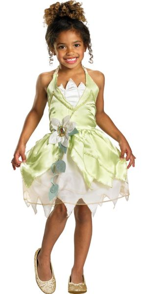 Girls Classic Princess Tiana Costume - Princess and the Frog