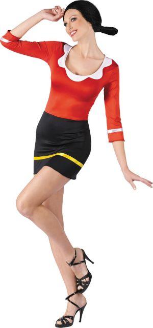 Adult Sexy Olive Oyl Costume