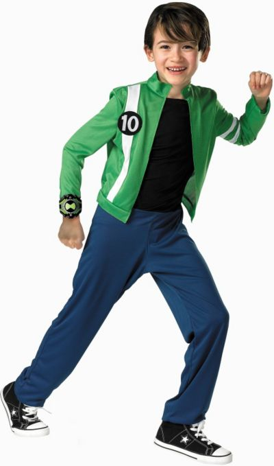 Boys Ben 10 Costume - Alien Force