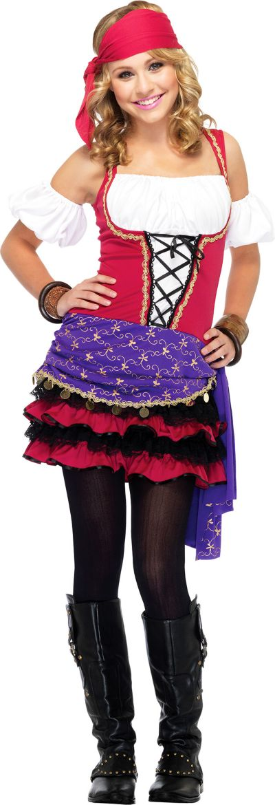 Teen Girls Crystal Ball Gypsy Costume