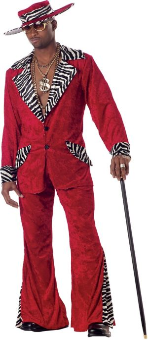 Adult Red Pimp Costume