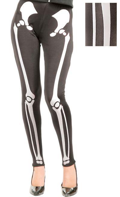 Adult White Skeleton Leggings