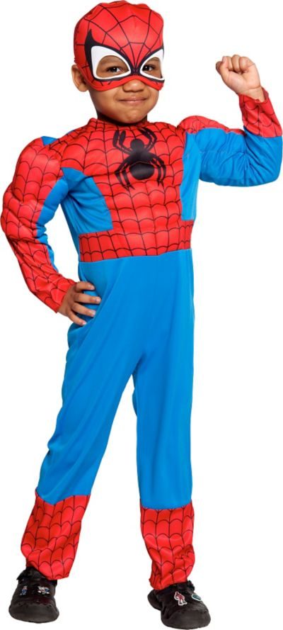 Toddler Boys Spider-Man Muscle Costume