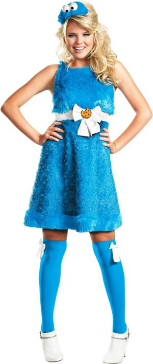 Adult Sassy Cookie Monster Costume - Sesame Street
