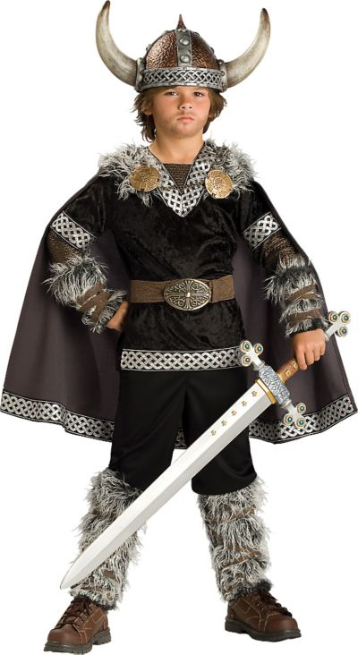 Boys Viking Warrior Costume Elite