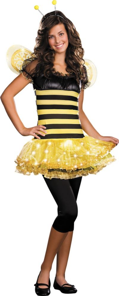 Teen Girls Light-Up Busy Lil Bee Costume