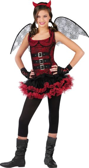 Girl Night Wing Devil Costume