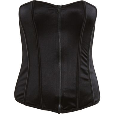 Perfectly Polished Black Bustier