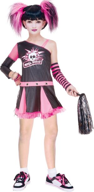 Girls Gothic Cheerleader Costume