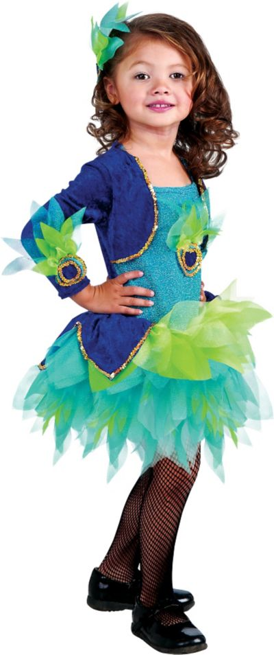 Toddler Girls Peacock Costume