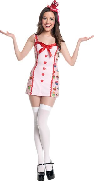 Teen Girls Cupcake Girl Costume