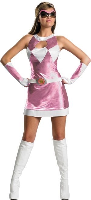 Adult Sassy Pink Ranger Costume Deluxe - Power Rangers