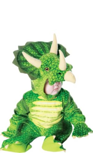 Baby Green Triceratops Dinosaur Costume