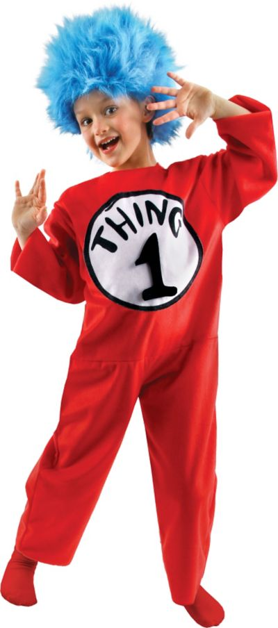 Child Thing 1 and Thing 2 Costume Deluxe - The Cat in the Hat