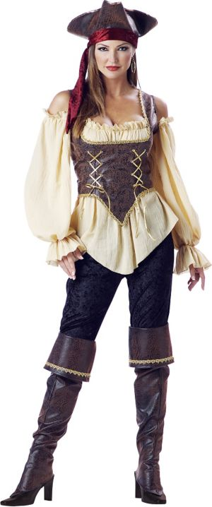 Adult Rustic Pirate Lady Costume Elite