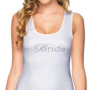 Adult Rhinestone Bride Tank Top