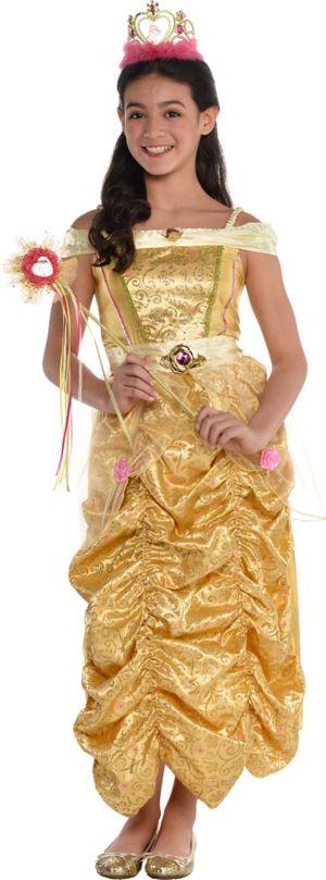 Girls Glitter Belle Costume