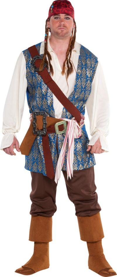 Adult Jack Sparrow Pirate Costume Plus Size