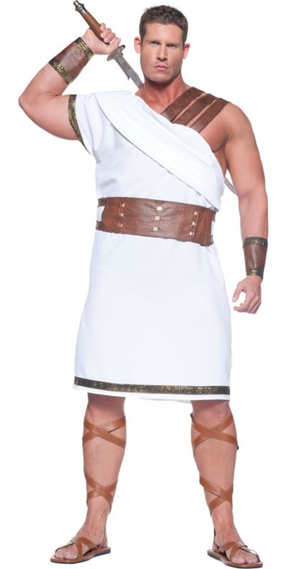 Adult Greek Warrior Costume Plus Size